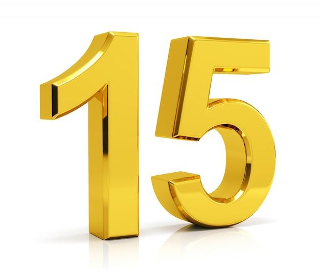 Numéro 15 Photo Premium