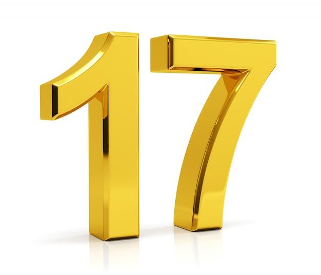 Numéro 17 Photo Premium