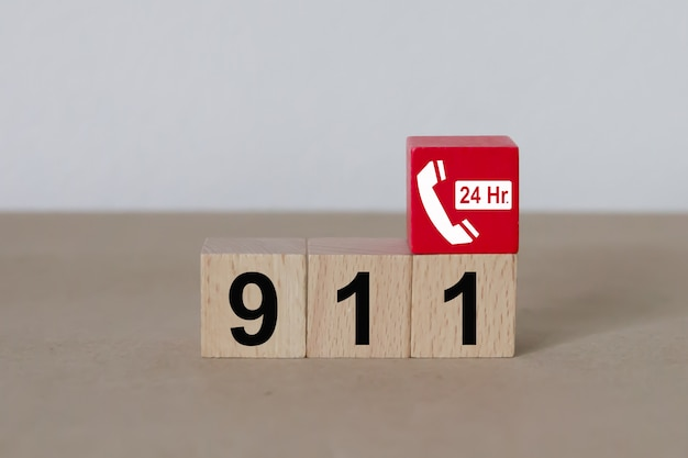 Numéro d'urgence 911 services. Photo Premium