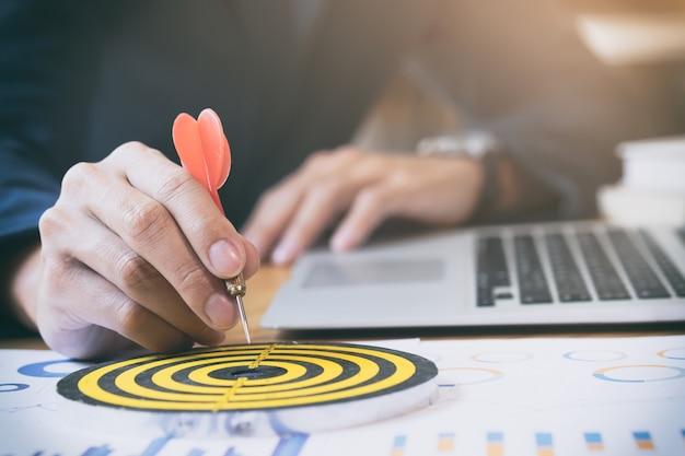 Objectifs ciblés pour la stratégie commerciale. Photo gratuit
