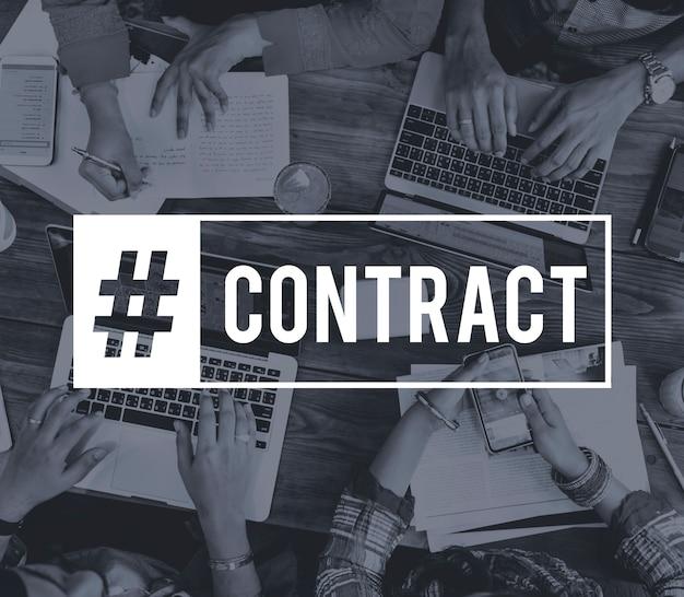 Objectifs du contrat d'entreprise Photo gratuit