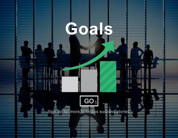 Objectifs objectifs de la mission concept graphique cible Photo gratuit