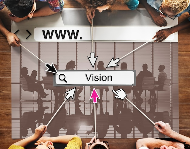 Objectifs de vision inspiration mission motivation idées concept Photo gratuit