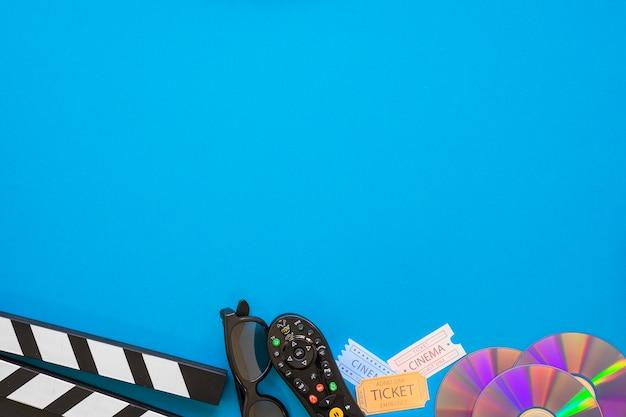 Objets de films avec de l'espace sur le dessus Photo gratuit