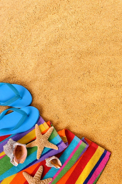 Objets de plage et bascules Photo gratuit