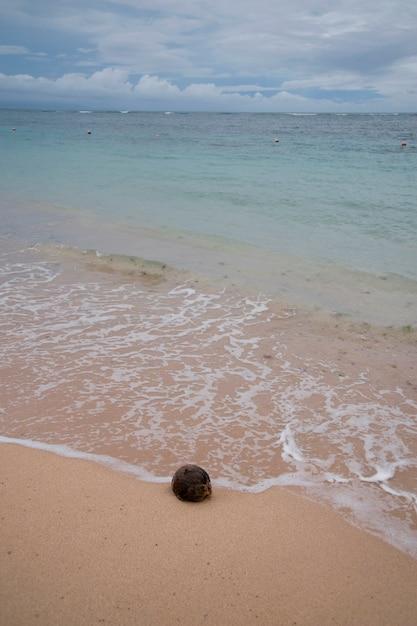 Océan et plage à bali Photo Premium