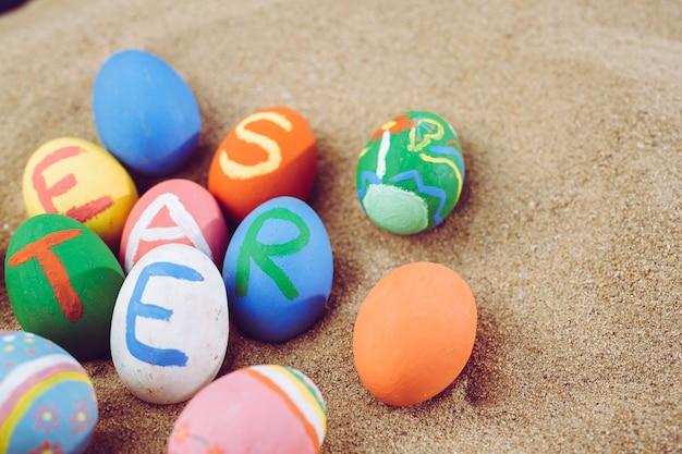 Oeufs Colorés De Pâques, Fête De Pâques. Photo gratuit