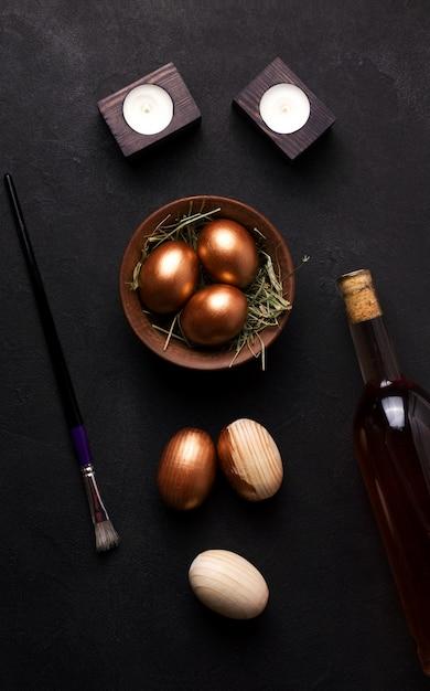 Oeufs De Pâques D'un Arbre Photo Premium