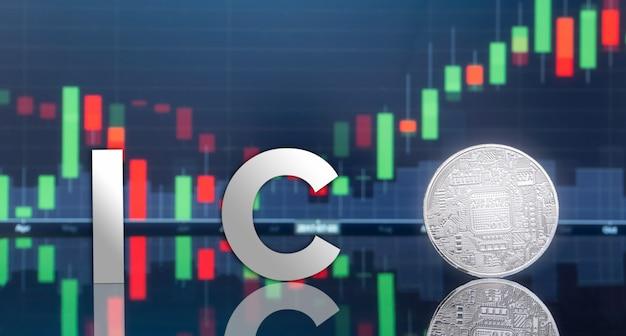 Offre initiale de pièces (ico) et monnaie numérique. Photo Premium