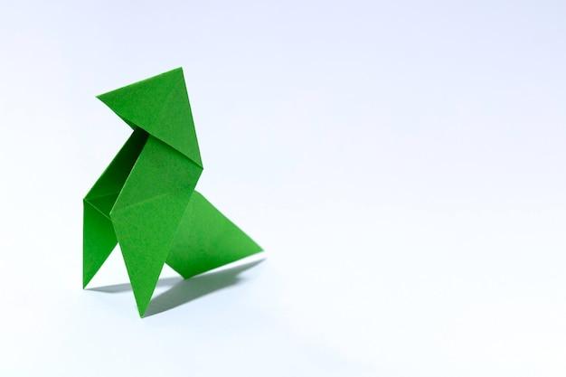 Oiseau de papier vert Photo Premium
