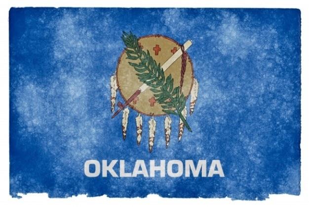Oklahoma grunge flag Photo gratuit