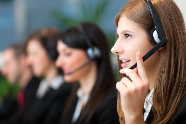 Opérateurs de centres d'appels Photo Premium