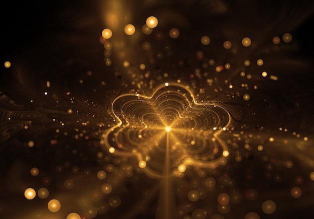 Or flower sparkle Photo gratuit