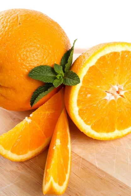 Orange Sur Blanc Photo gratuit
