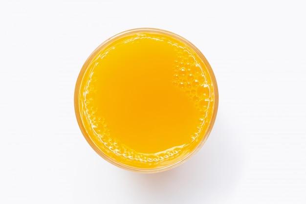 Orange fraîche sur blanc. Photo Premium