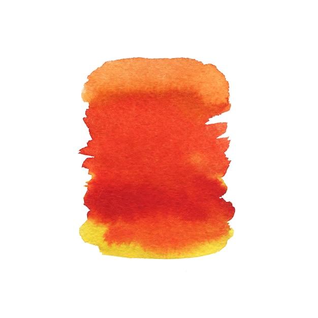 Orange peinte. texture de peinture aquarelle. Photo Premium