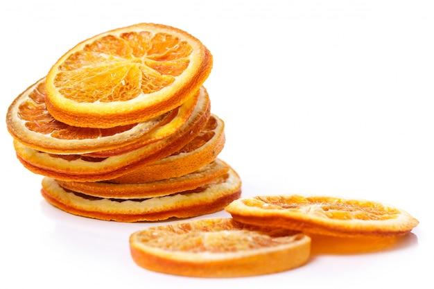 Orange Séchée Sur La Table Photo gratuit