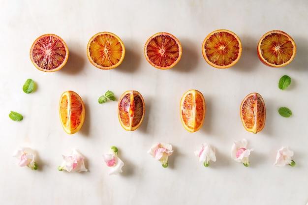 Oranges sanglantes siciliennes Photo Premium