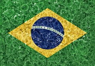 Organique grunge drapeau brésil Photo gratuit