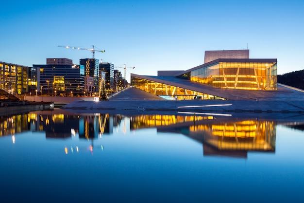 Oslo opera house norvège Photo Premium