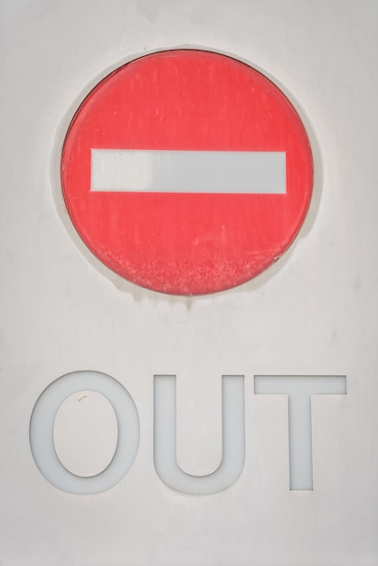 Out interdiction sign Photo gratuit
