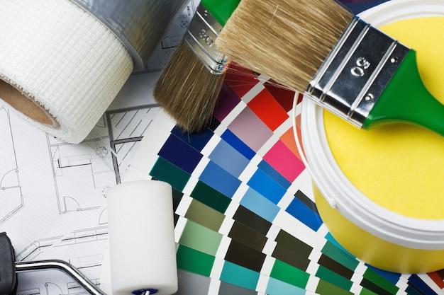 Outils et accessoires pour la rénovation domiciliaire Photo Premium