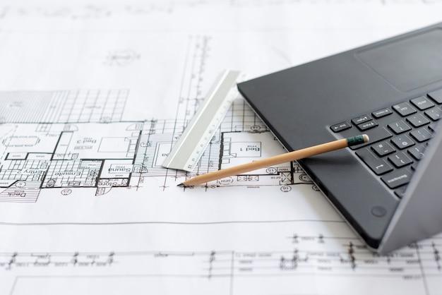 Outils architecturaux à grand angle Photo gratuit