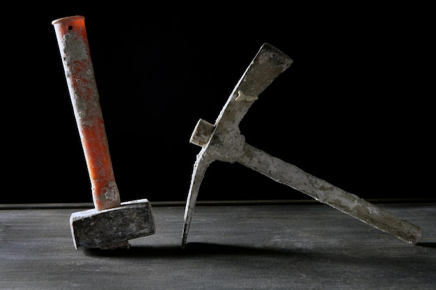 Outils de construction utilisés main outils sales Photo Premium