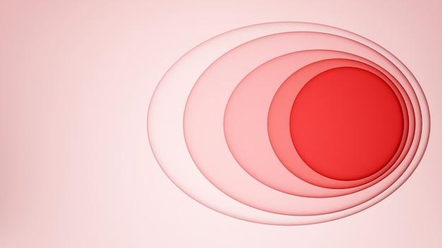 Ovale rouge avec un cercle rose pour le fond de l'oeuvre Photo Premium