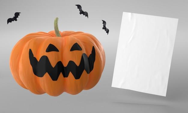 Page De Papier Avec Citrouille Pour Halloween Photo gratuit