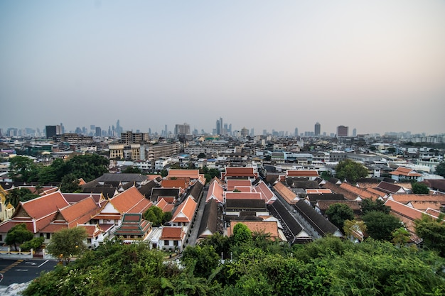 Pagode D'or Au Sommet Du Mont D'or, Wat Saket Ratcha Wora Maha Wihan, Bangkok, Thaïlande Photo gratuit