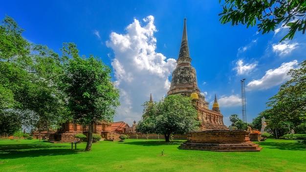 Pagode à Wat Yai Chaimongkol Ou Wat Yai Chai Mongkhon, Temple Dans Le Parc Historique D'ayutthaya, Ayutthaya, Thaïlande. Photo Premium