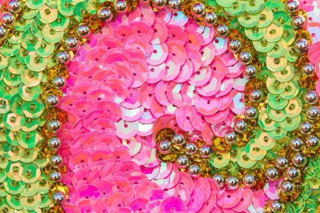 Paillettes de broderies de couleurs et de paillettes pour le carnaval Photo Premium