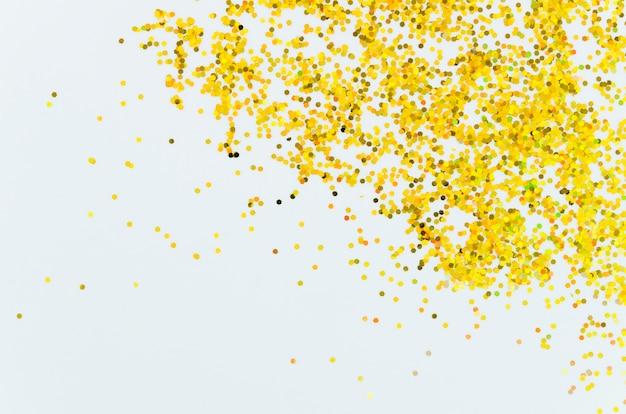 Paillettes dorées abstraites avec fond d'espace copie Photo gratuit