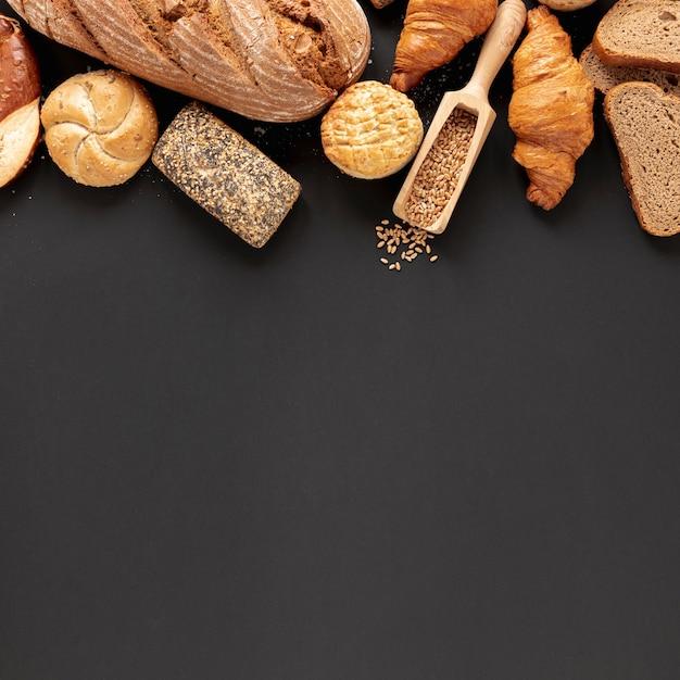 Pain Et Graines Avec Espace De Copie Photo gratuit