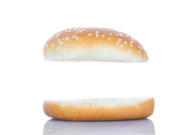 Pain Hamburger Avec Un Espace Blanc Photo gratuit