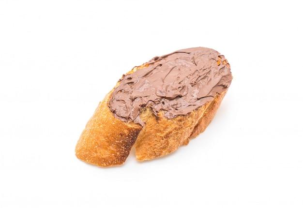 Pain à tartiner au chocolat et aux noisettes Photo Premium