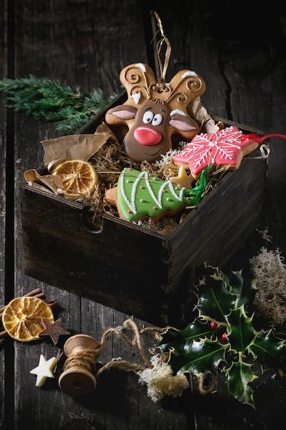 Pains D'épices à Motifs De Noël Photo Premium