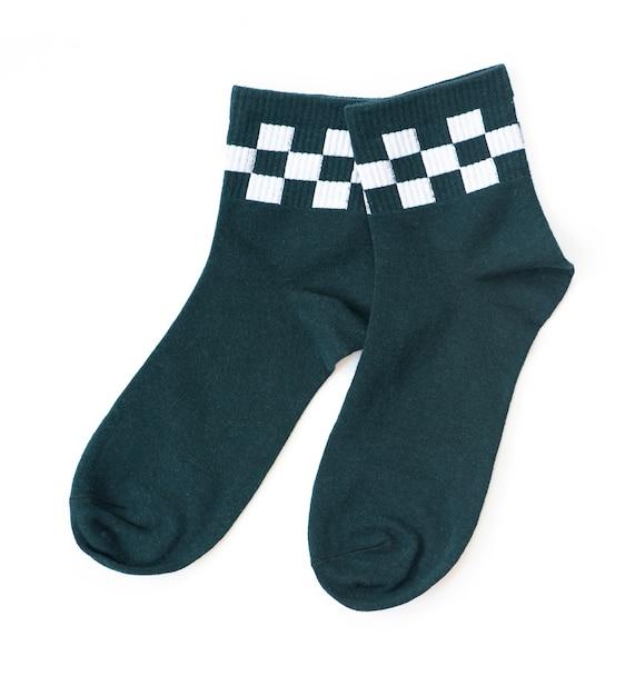 Paire de chaussettes vertes Photo Premium