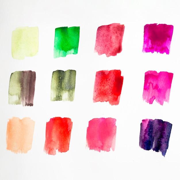 Palette de couleurs des taches d'aquarelle Photo gratuit