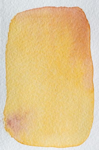Pamplemousse Jaune, Rouge, Orange, Marsala Cadre Aquarelle Abstrait Dessiné à La Main. Espace Pour Le Texte, Le Lettrage, La Copie. Modèle De Carte Postale. Photo Premium