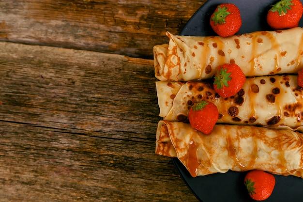 Pancakes faits maison Photo gratuit