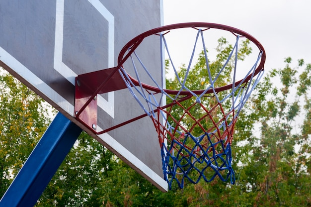 Panier de basket ou cerceau. Photo Premium