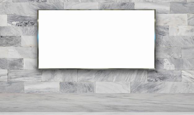Panneau d'affichage sur fond de mur Photo Premium