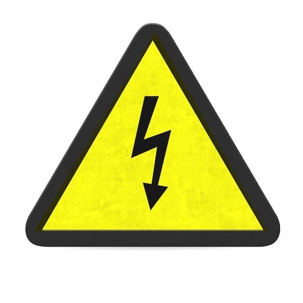 Panneau d'avertissement électrique Photo gratuit