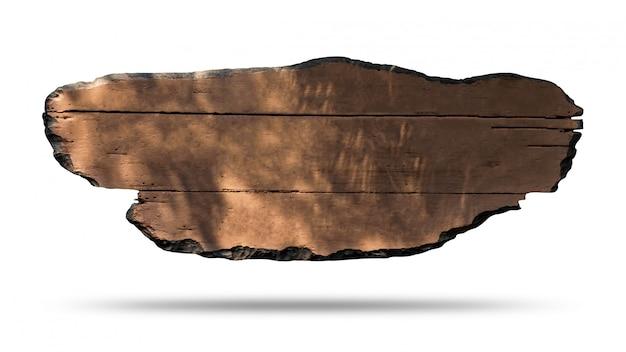 Panneau en bois isolé sur fond blanc Photo Premium