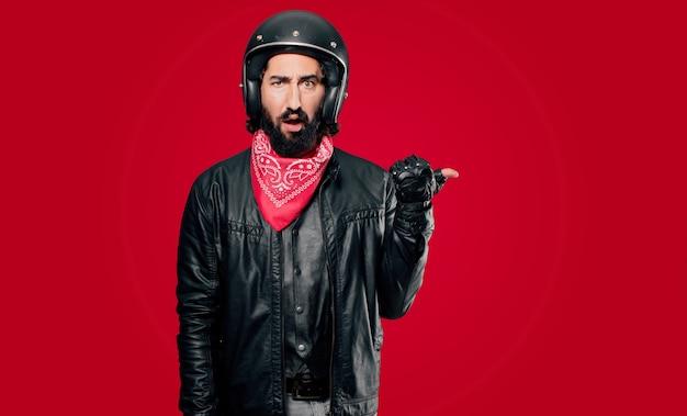 Panneau de pointage de motard Photo Premium