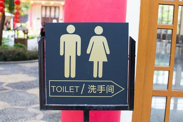 Panneau de toilette Photo Premium