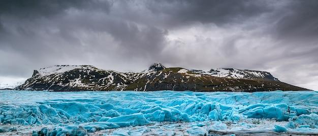 Panorama Du Glacier De Skaftafell, Parc National De Vatnajokull En Islande. Photo gratuit