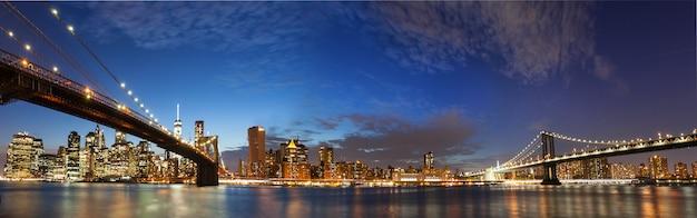 Panorama de la ville de manhattan à new york Photo Premium